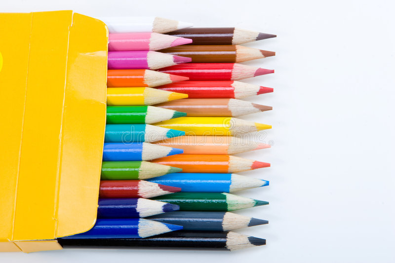 Download Colored pencils stock photo. Image of draw, child, paint - 3417082