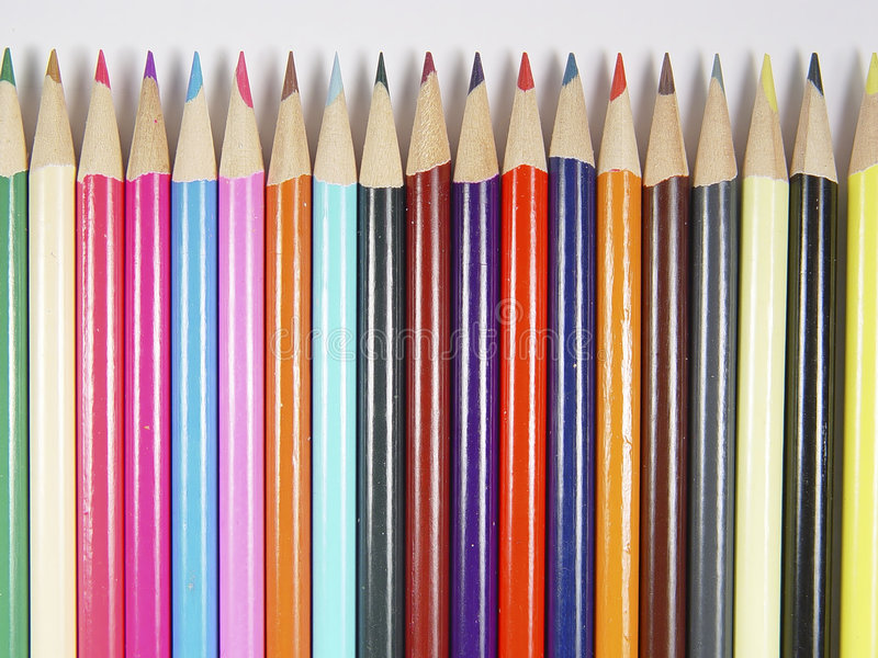 Download Colored Pencils 4 stock photo. Image of sharpen, draw, graphics - 7528