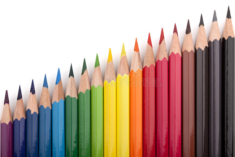 Colored pencils 4 royalty free stock photography