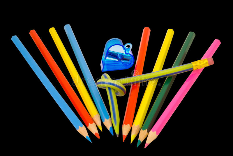 Download Colored pencils 6 stock photo. Image of multi, design - 12413032