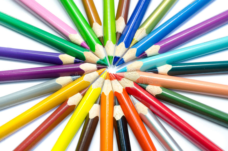Download Colored Pencils Isolated On White Background Stock Image - Image: 33541133