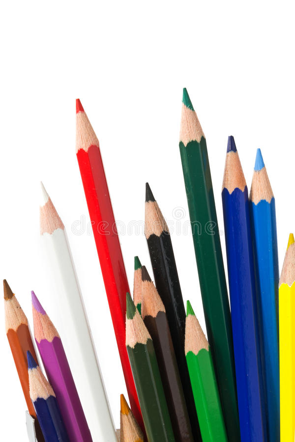 Download Colored pencils stock image. Image of work, draw, color - 33093587