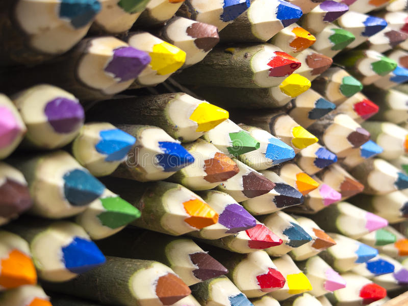 Colored pencils sale royalty free stock photography