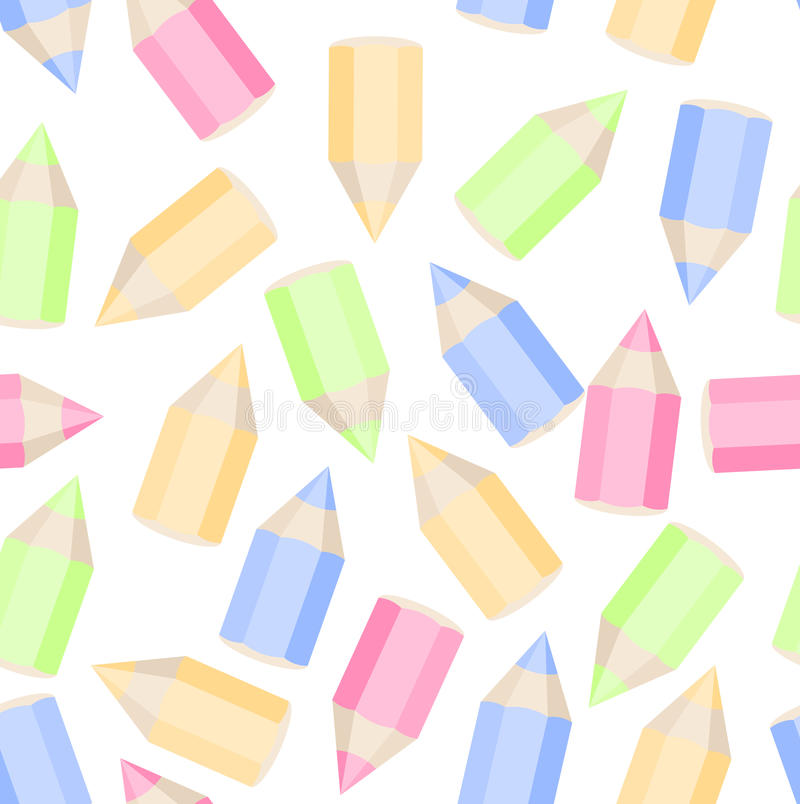 Colored pencils seamless texture royalty free stock image
