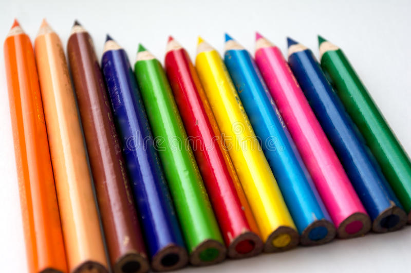 Colored pencils to draw stock photography