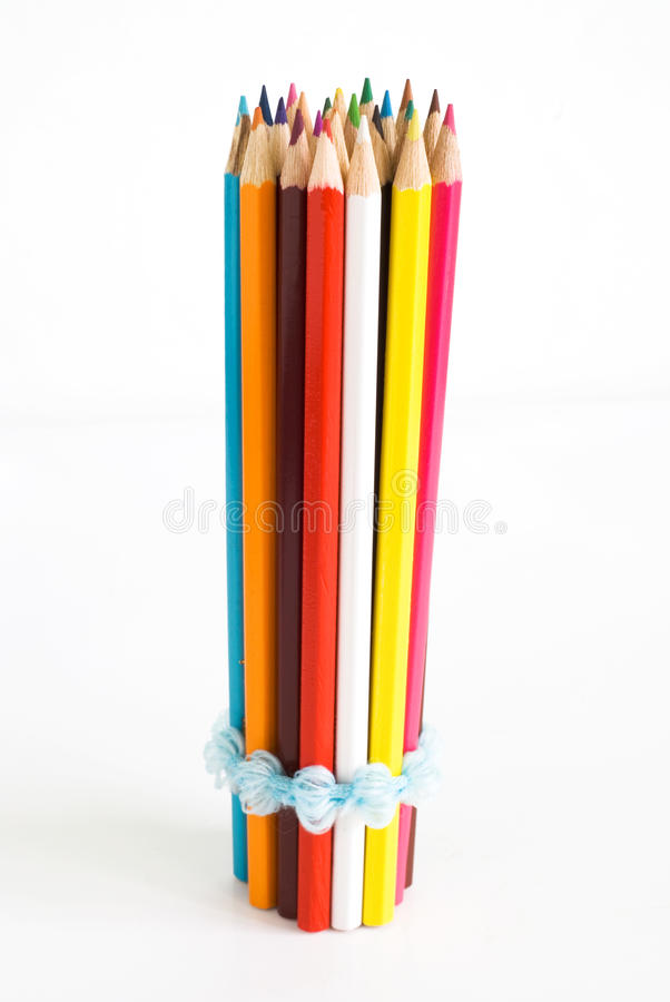 Colored pencils vertically