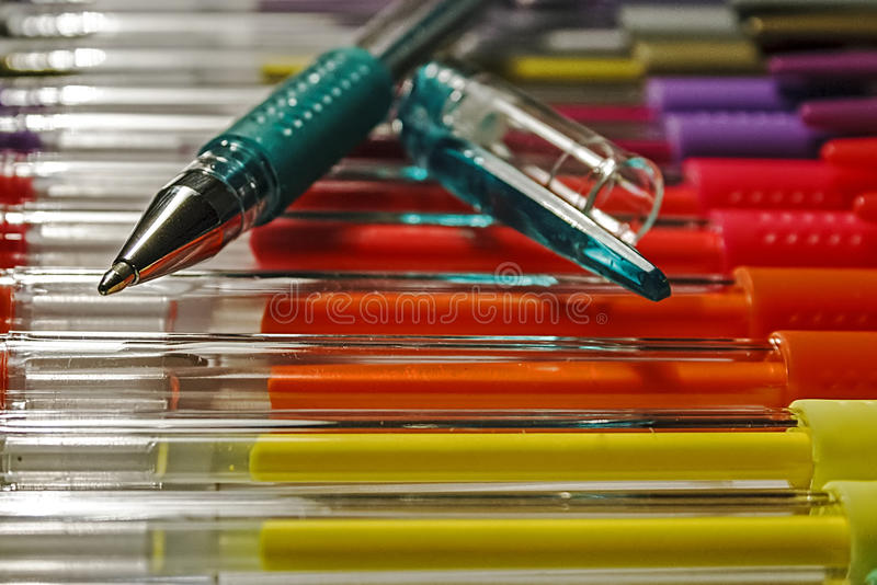 Download Colored pens 16 stock photo. Image of crayon, object - 34298008