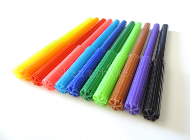 Download Colored pens stock image. Image of placed, tones, parallel - 55445229