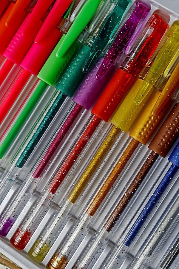 Download Colored pens 15 stock photo. Image of orange, pencil - 33487930