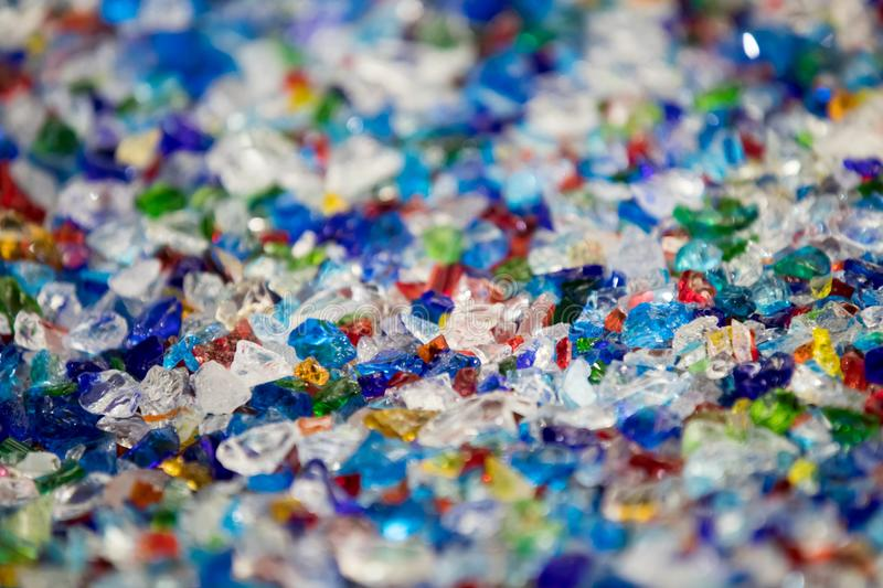 Colored pieces of glass royalty free stock images