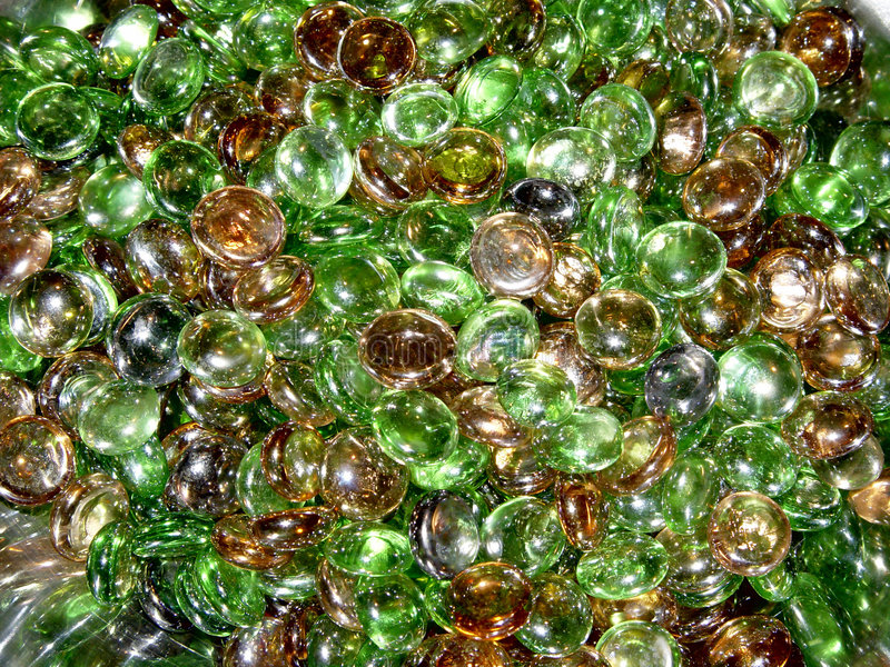 Colored Pieces of Round Glass royalty free stock images