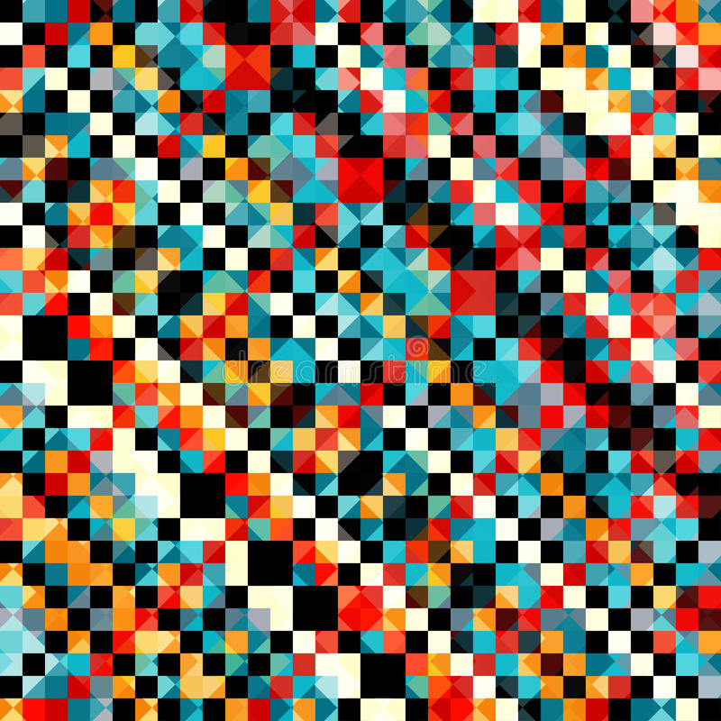 Colored pixel pattern in retro style vector illustration. (vector eps 10 royalty free illustration