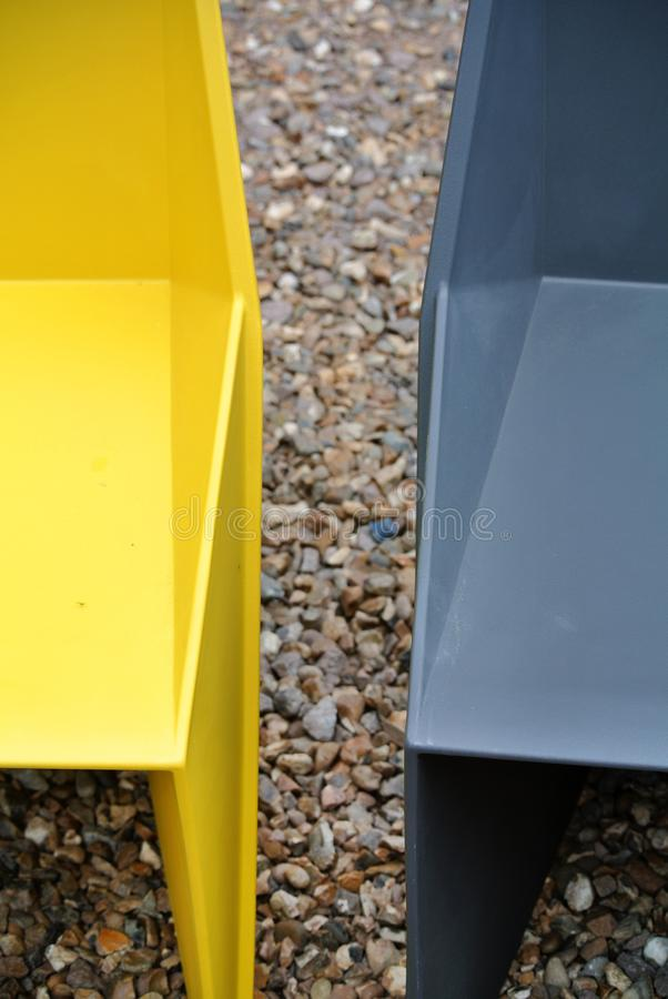 Colored plastic chairs detail royalty free stock images