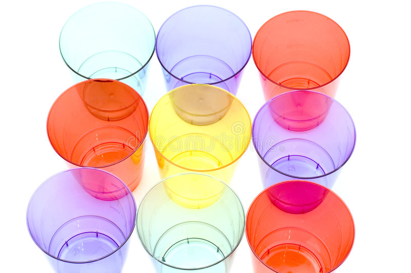 Download Colored plastic cups stock photo. Image of drinking, beverage - 4006080