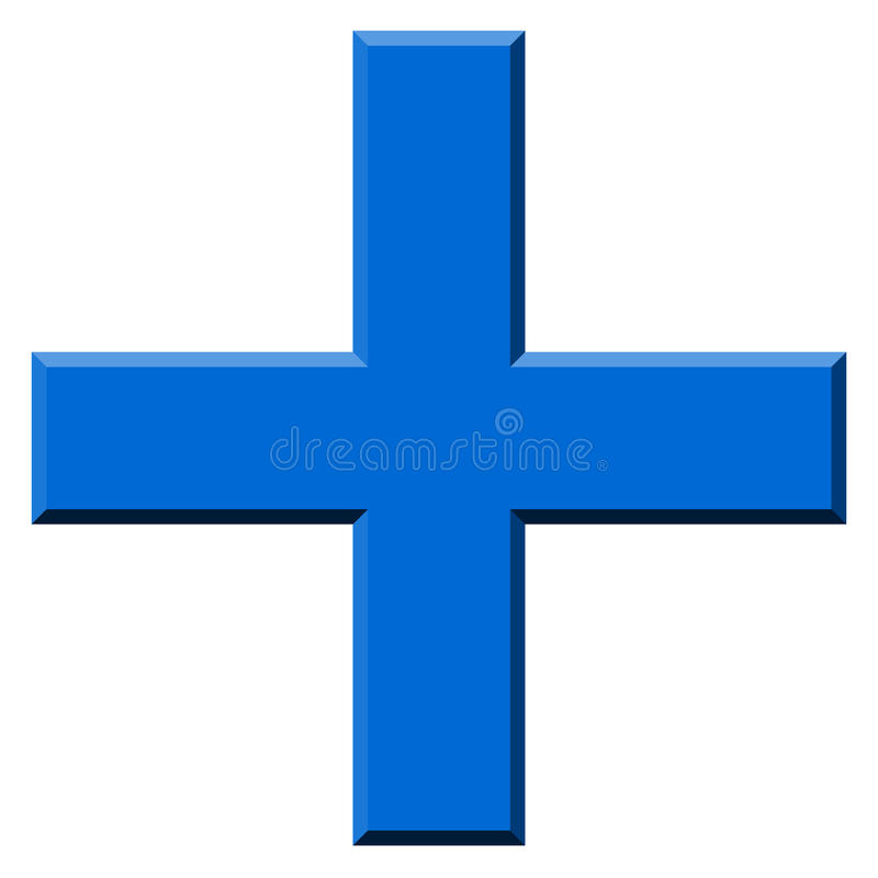 Colored Plus Symbol, Plus, Cross Icon With 3d Effect