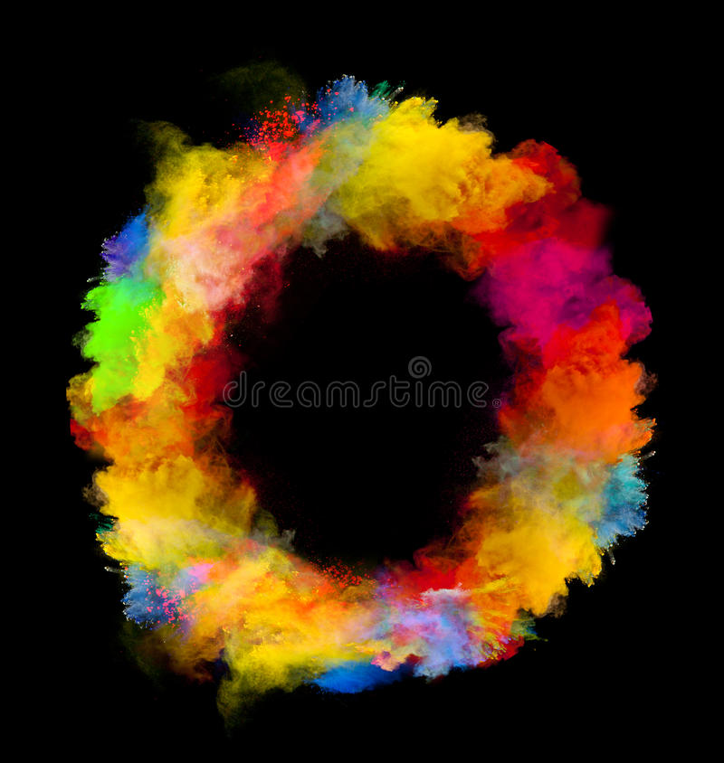 Colored powder royalty free stock photo