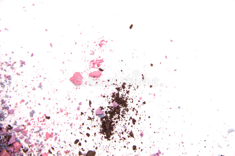 Colored powder isolated on white background stock photos