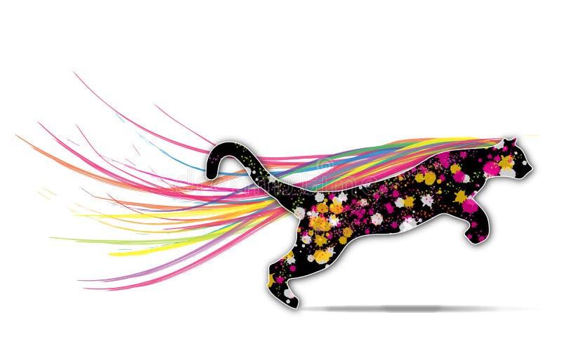 Colored Puma stock illustration