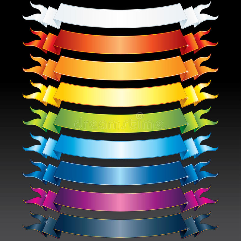 Download Colored Ribbons stock vector. Image of frame, clear, illustration - 20755558