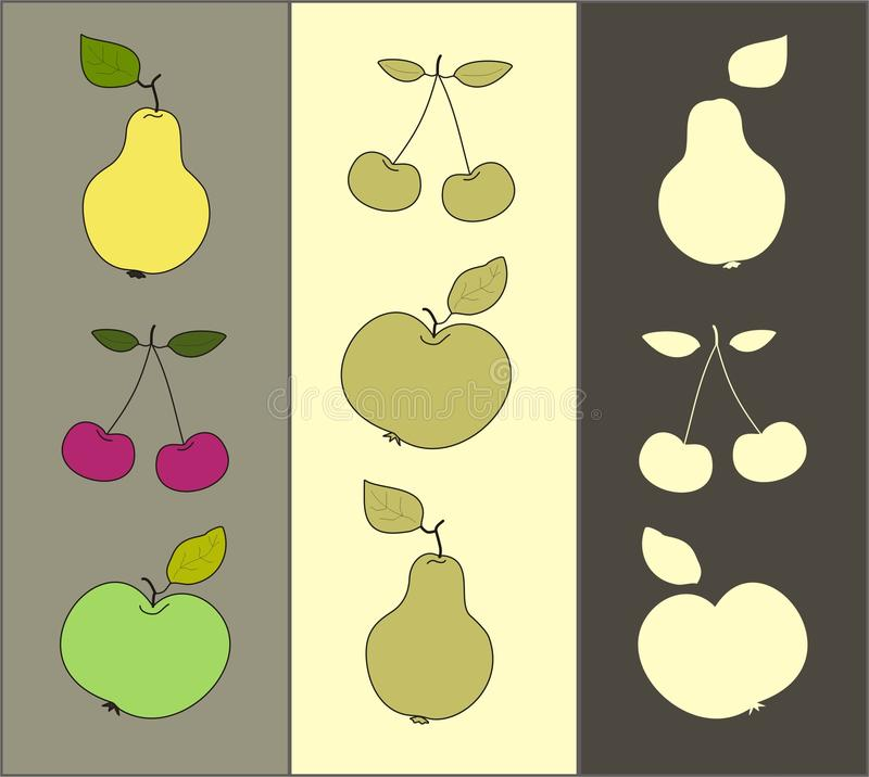 Download Fruit  set stock vector. Image of vector, three, colored - 29772185