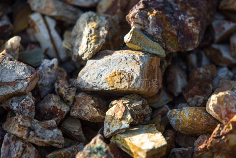 Colored rocks texture stock photos