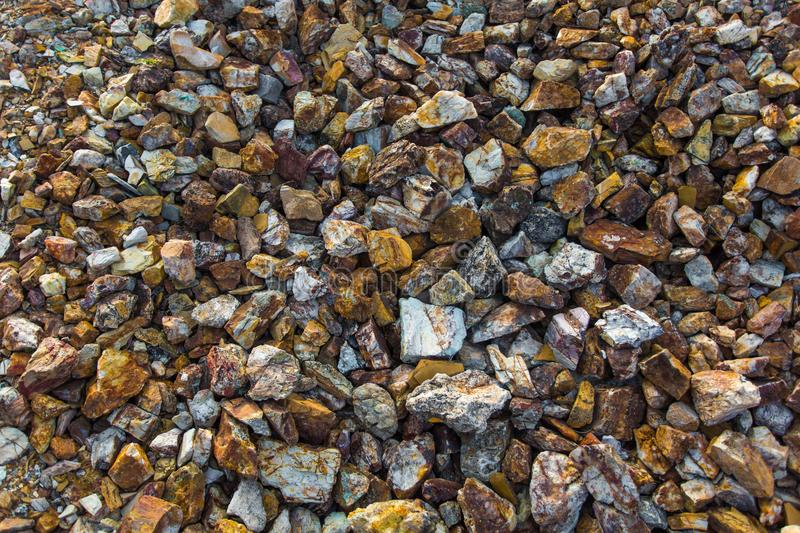 Colored rocks texture stock image
