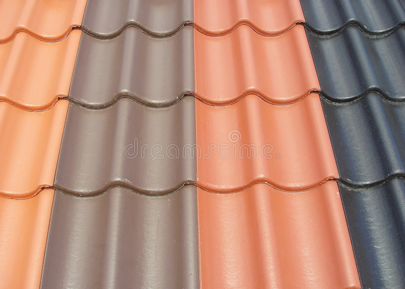 Colored roof tiles stock photos
