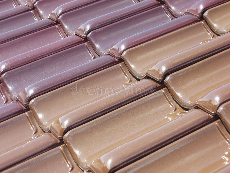 Colored roof tiles royalty free stock image