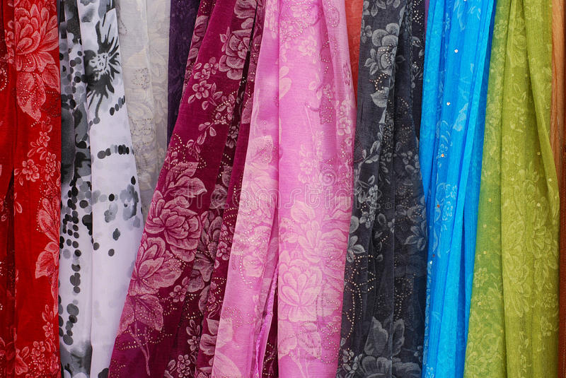 Download Colored scarfs stock image. Image of abstract, scarfs - 13695961