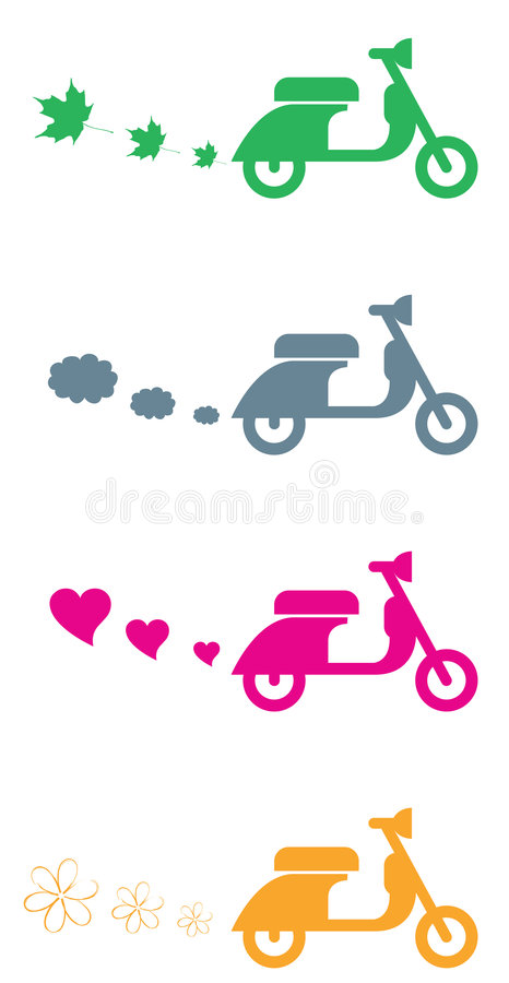 Colored scooter vector illustration