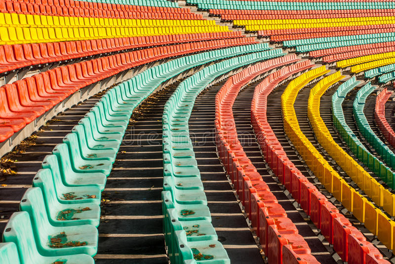 Colored seats royalty free stock photo