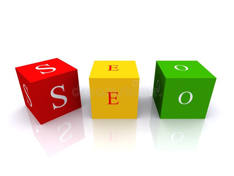 Download Colored SEO Cubes Stock Images - Image: 19492474