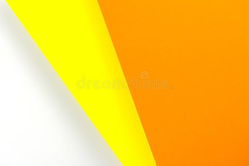 Colored sheets of paper lying on top of each other. The paper is orange and yellow vector illustration
