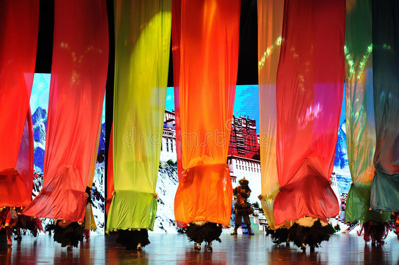 """The colored silk build a bridge-Large scale scenarios show"""" The road legend"""". The drama about a Han Princess and king of Tibet Song Xan Gan Bbu and stock images"""