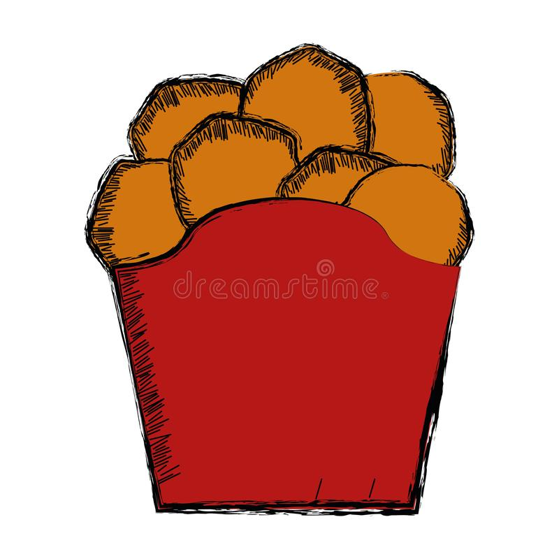 Colored sketch of a chips. Vector illustration stock illustration