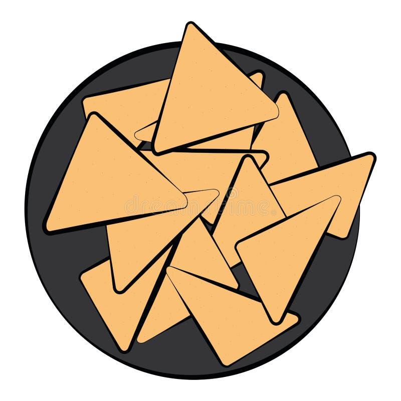 Colored sketch of a nachos. Vector illustration vector illustration