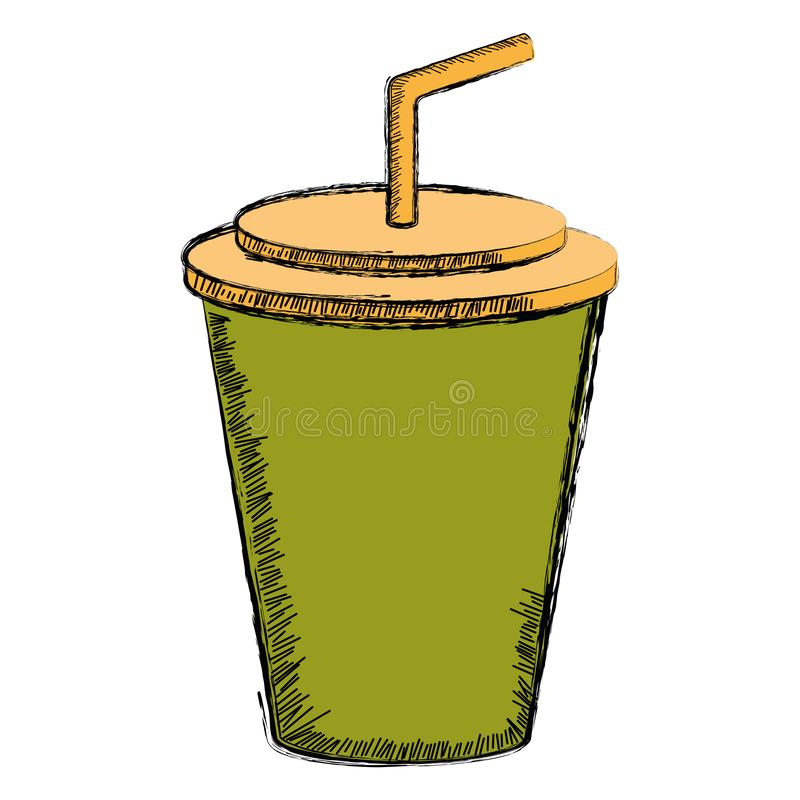 Colored sketch of a soda. Vector illustration vector illustration