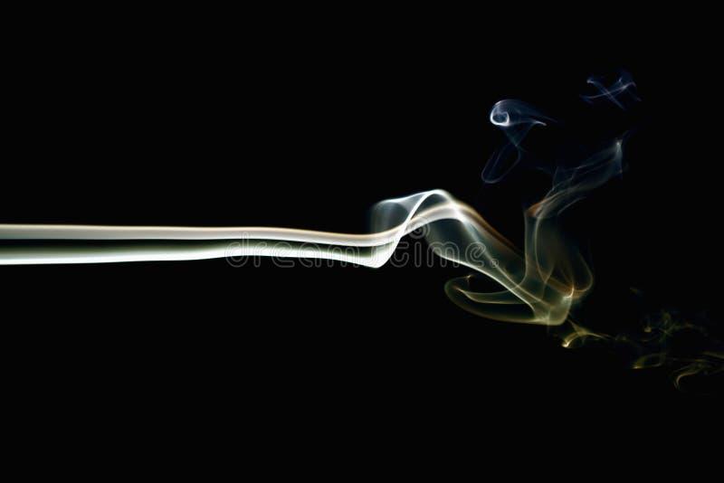 Colored Smoke on Black 5. Colored smoke on black background royalty free stock image