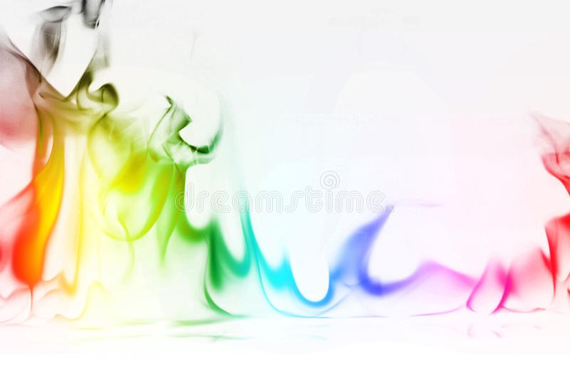 Multi Color Fire Flame Abstract on white background. A mystic colorful smoke. Blurry bright abstraction with colored lines. Magic. Fire - texture Image royalty free stock photo