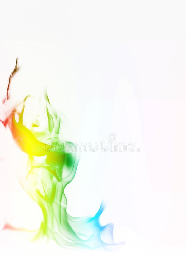 Multi Color Fire Flame Abstract on white background. A mystic colorful smoke. Blurry bright abstraction with colored lines. Magic. Fire - texture Image stock photos