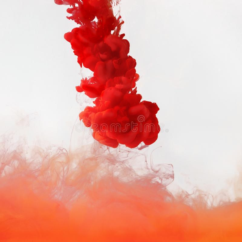 Colored smoke underwater royalty free stock image