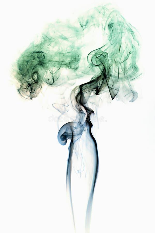 Colored Smoke on White 3 stock image