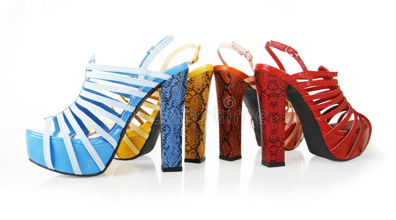 Download Colored Snakeskin Heels Collections Stock Photo - Image of gorgeous, blue: 23876438