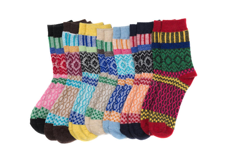 Colored socks stock photos