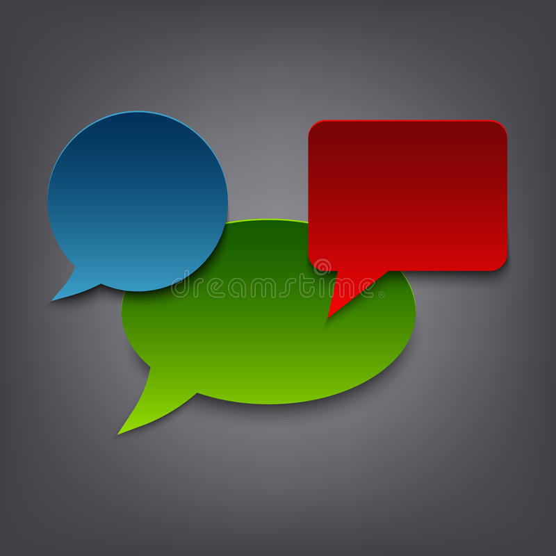 Colored speak abstract bubbles template stock illustration