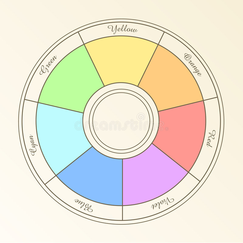 Download Colored spectrum stock vector. Image of circle, blender - 7409610