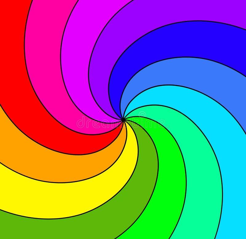 Colored spiral illustration stock photo