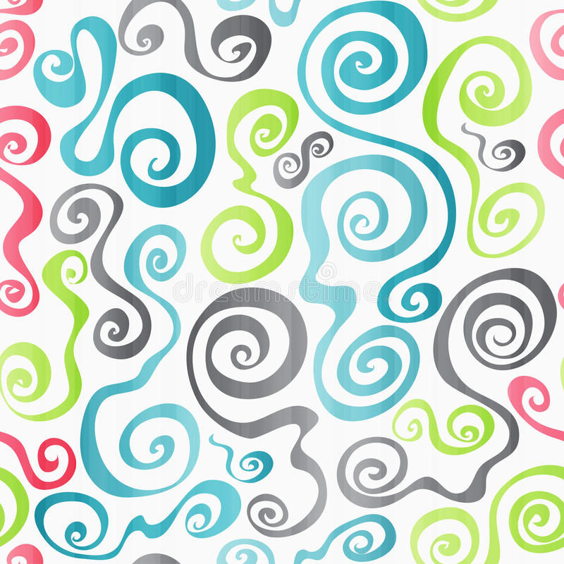 Download Colored Spirals Seamless Pattern Stock Vector - Image: 33044547