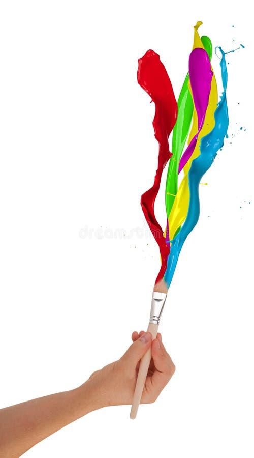 Colored splashes stock photo
