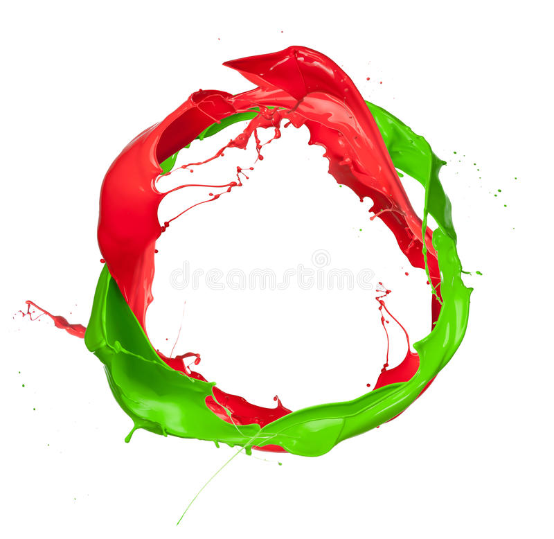 Colored splashes royalty free stock photography